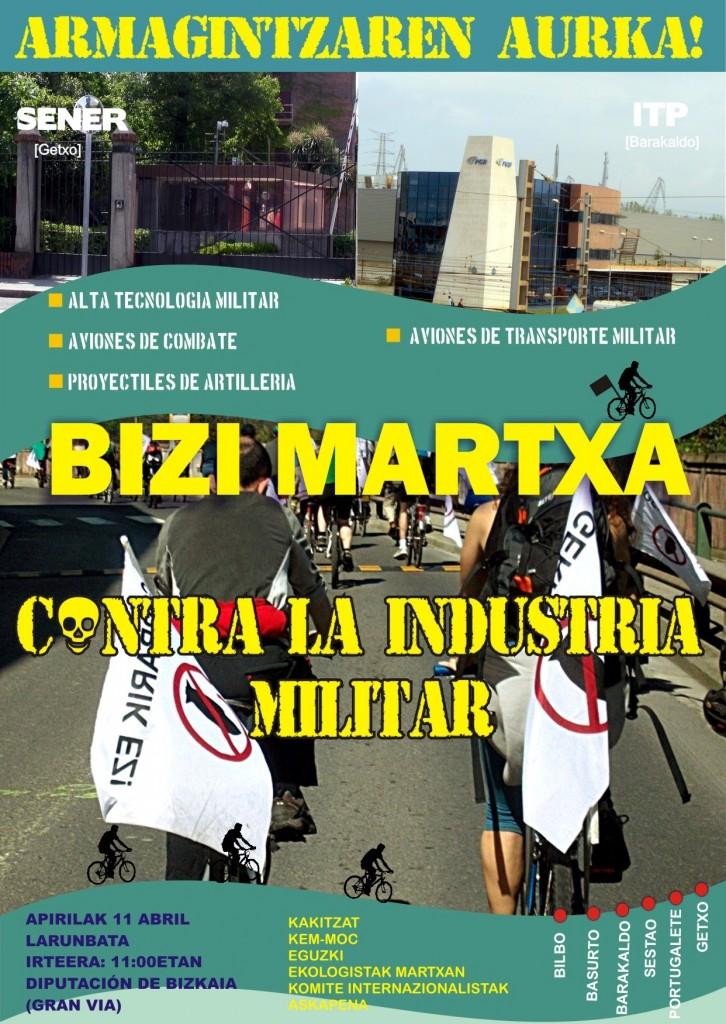 Bizi Martxa contra el gasto y la industria militar 2015.-1