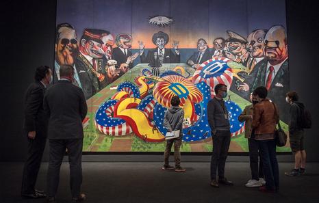 El mural, en el Bellas Artes de Bilbao. Foto: Marisol Ramirez/Foku, Naiz.